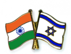 india-israel flags